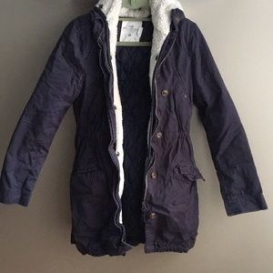 H&M Navy Jacket with hood size 4